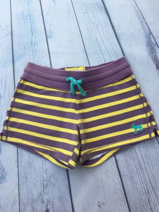 Mini Boden purple and yellow striped shorts age 5-6 (playwear)